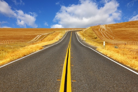 Travel to steppes of California on excellent American highway photo