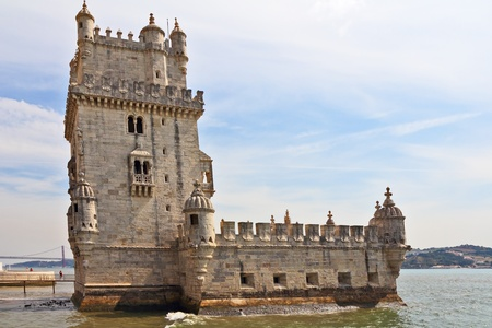 The well-known fortress of Belen in a river Tagus mouth. Portugal, Lisbon