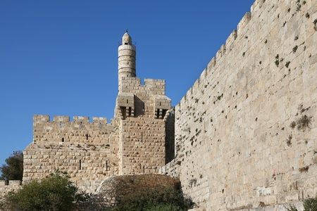 Davids tower. Eternal Jerusalem surrounded with indestructible walls