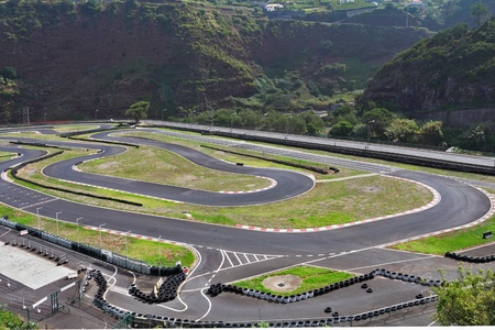 carting: The picturesque race track in the mountains on the island of Madeira Editorial