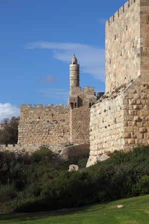 grandiose: Grandiose walls of Jerusalem and the Tower of David  Editorial