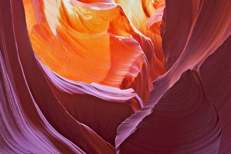 Picturesque multi-color slot-hole canyon Antelope. photo