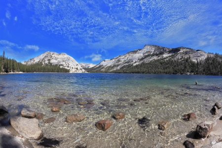 The majestic American nature. Blue lake in a hollow among the mountains photo