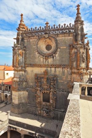 knights templar: The medieval castle of the Knights Templar in the Portuguese town of Tomar. Superbly preserved walls, intricately decorated with ornaments