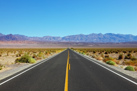 Great American road, crossing a huge Death Valley in California photo