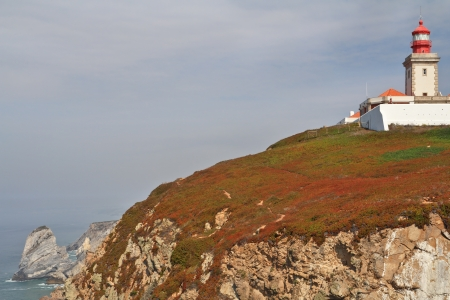 Beacon. Cabo da Rocha - extreme western point of Europe Stock Photo - 15327063