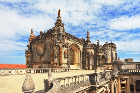 knights templar: Beautifully preserved and restored monument of medieval architecture  Palace of the Knights Templar in Tomar  Portugal Editorial