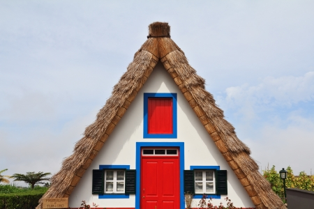 pastoral: Pastoral landscape  Rural house clear geometric shapes  Madeira, the city of Santana