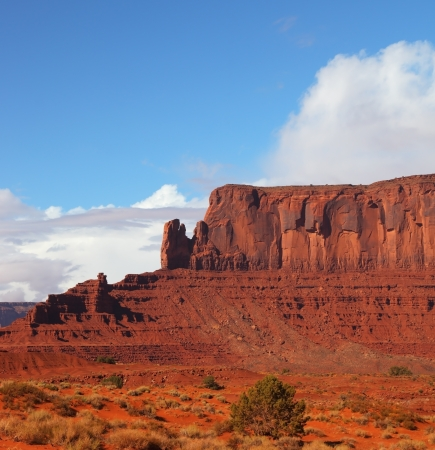Picturesque cliffs of red sandstone in the Navajo reservation Stock Photo