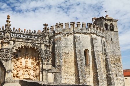 The monastery-fortress of the Knights Templar in Tomar, close to Lisbon
