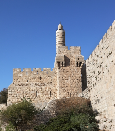 unbreakable: Tower of David  The Eternal Jerusalem, surrounded by walls of unbreakable Stock Photo