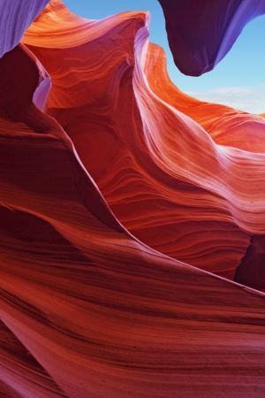 Scenic color slot Antelope canyon . Navajo Reservation, USA Stock Photo
