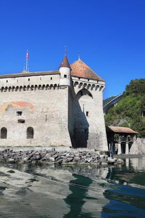 chillon: Magnificent medieval castle Chillon on Lake Geneva in Switzerland