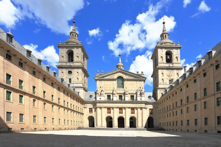 enormous: Monastery and Site of the Escorial, Madrid. Enormous monument of medieval religious architecture of Escorial in Spain.  Editorial