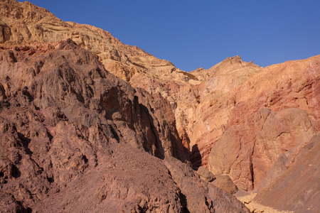 A bible landscape - desert Sinai in  Winter, December photo
