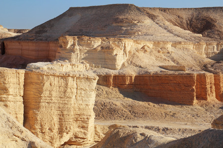 Unusual forms of ancient picturesque hills. Dead Sea, Israel photo