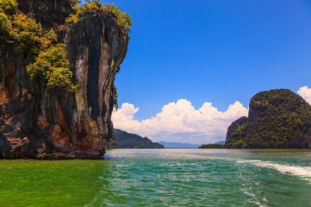 thailand: The Andaman Sea at the coast of Thailand. The delightful island rock in the gulf