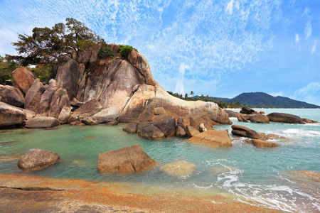 warm water: Similan Islands. Thailand, in April, a wonderful beach and spectacular cliffs. Azure warm water and white sand