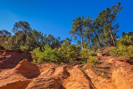 roussillon: Roussillon, Red village of Provence. Stock Photo