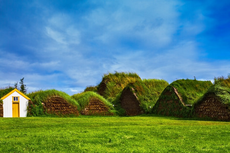 reconstituted: The village first settlers in Iceland. The reconstituted village - Pioneer Museum
