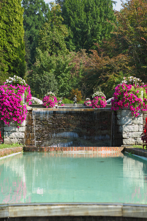 taranto: The shore of Lake Maggiore, Villa Taranto. Huge beautiful park-garden with flowers and fountains
