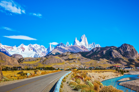 roy: The road to majestic Mount Fitz Roy. Argentine Patagonia.