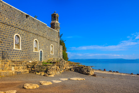 primacy: Sea of Galilee in Israel. The Church of the Primacy - Tabgha.