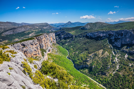 Magnificent May in the wooded mountains. Canyon of Verdon, Provence, France. Stock Photo - 54651366