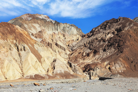 Dry and hot-colored mountains of Death Valley. California, USA Stock Photo