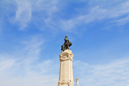 colossal: The colossal monument to the Portuguese king-conqueror. Lisbon