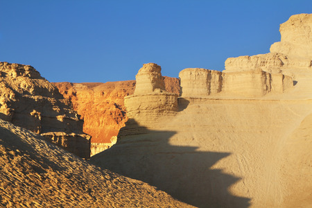 judean hills: Magnificent ancient mountains in the early winter morning. Dead Sea, Israel