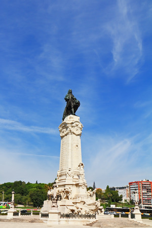 Lisbon. The colossal monument to the Portuguese king-conqueror Editorial