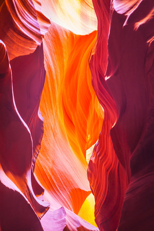 Incredible color slot canyon Antelope  in the Navajo reservation. Arizona, USA