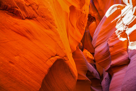 Fantastic slot-canyon Antelope in the Navajo reservation. Incredible color slot canyon Antelope Arizona, USA