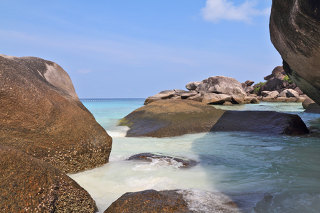 Beautiful cliffs on the famous beaches of the Similan Islands