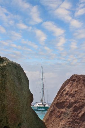 Sailing yacht off the coast of Similan Islands. Thailand Reklamní fotografie