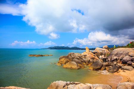 "The group of stones on the beach of Lamai - ""Grandpa and Grandma"". Koh Samui, Thailand"
