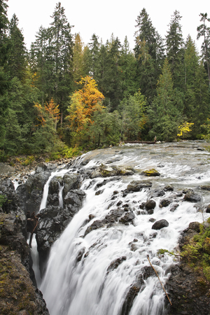 Falls in Canada, falling in a deep crevice Stock Photo