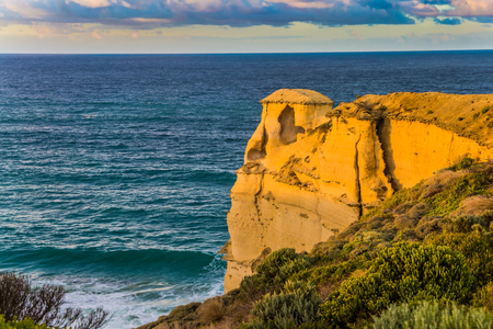 Fabulous morning light on the Pacific coast near Melbourne. Travel to Australia. The concept of active and phototourism