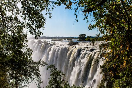 Grand Victoria Falls. Victoria is a waterfall on the Zambezi River in South Africa.