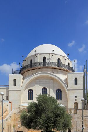 The famous marble restored Hurva Synagogue. Jerusalem, Israel