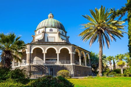Church of the Beatitudes. The church is octagonal in honor of the eight Beatitudes. High shore of Lake Tiberias.