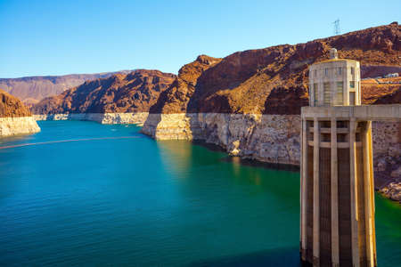 Concrete arch-gravity dam and hydroelectric power station. Hoover Dam is a unique hydraulic structure in the USA. The concept of cognitive, active and photo tourism