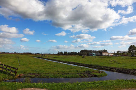 Coastal grassy plain with channels in Holland