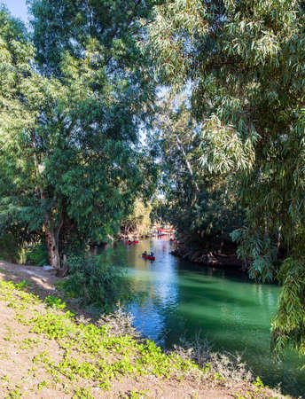 The Jordan River is the most famous river in the world. Jesus Christ was baptized in the Jordan River from John the Baptist. Jordan in Yardenit, where Christian pilgrims usually dive into the river.