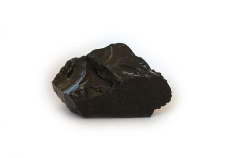 anthracite coal: Single piece of high quality anthracite coal on white background