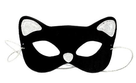 eye mask: Carnival cat mask on white background