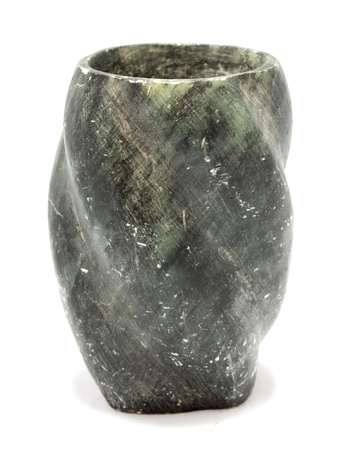 soapstone: Old antique vase carved from soap stone