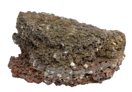 아이슬란드 어 용암의 격리 된 조각 스톡 콘텐츠