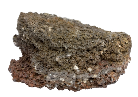 Isolated piece of icelandic lava of the aa type